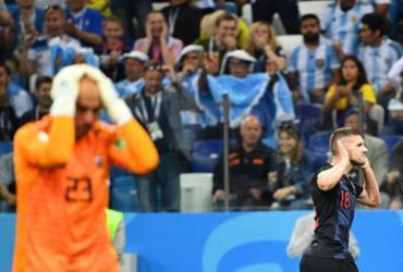 Veja fotos da partida entre Argentina e Croácia |