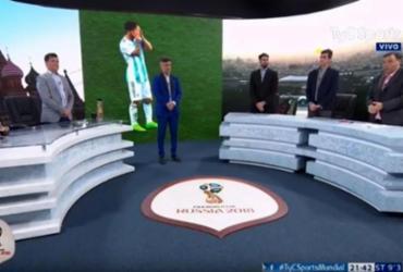 TV argentina faz minuto de silêncio por 'morte' de seleção | Divulgação