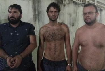 Três suspeitos de estelionato são presos com espadas em Stella Maris | Divulgação | SSP