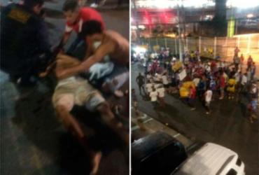 Homem é espancado por integrantes de torcida organizada em Salvador   Cidadão Repórter   Via WhatsApp