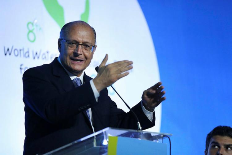 Alckmin: 'Sou nordestino. Venho lá de Carinhanha' - Foto: José Cruz | Agência Brasil