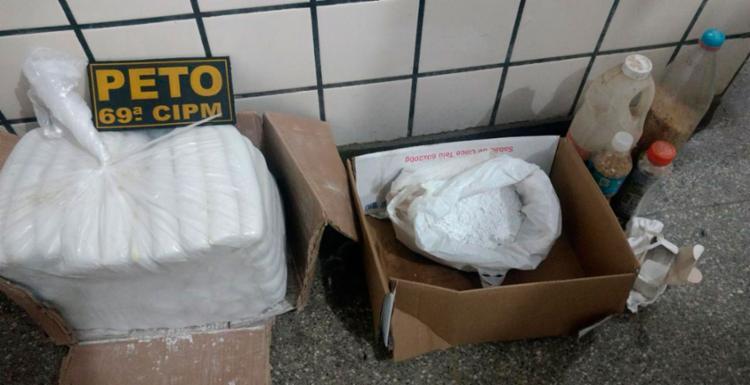 Polícia suspeita que o material seria utilizado no roubo a banco - Foto: Divulgação   SSP-BA
