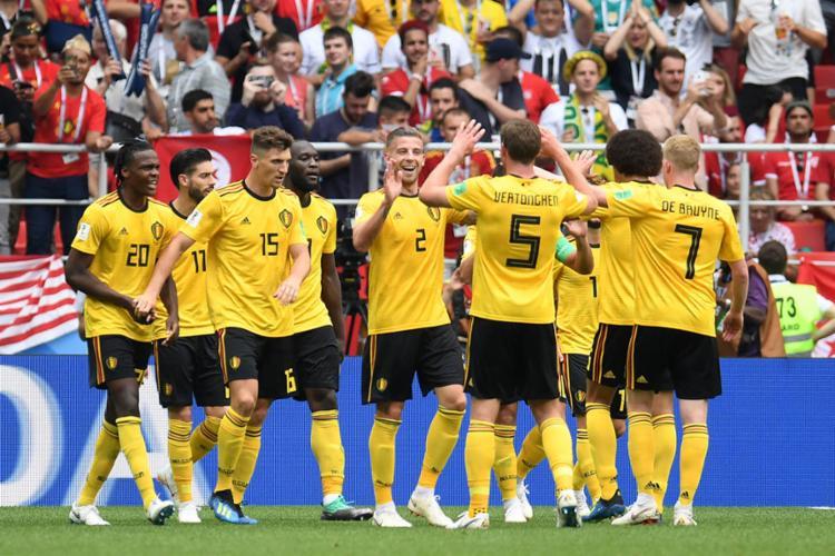 Bélgica passeia em campo e fica perto de garantir classificação - Foto: AFP