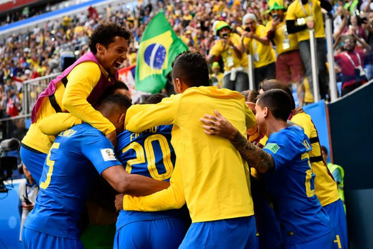 Brasil termina segunda rodada do grupo E em primeiro colocado - Foto: Christophe Simon | AFP