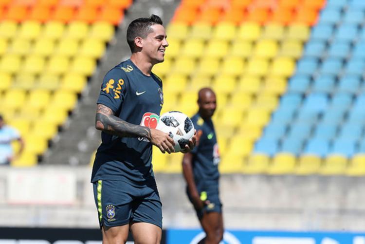 O lateral direito do Corinthians, Fagner, fará sua estreia na Copa do Mundo - Foto: Lucas Figueiredo | CBF