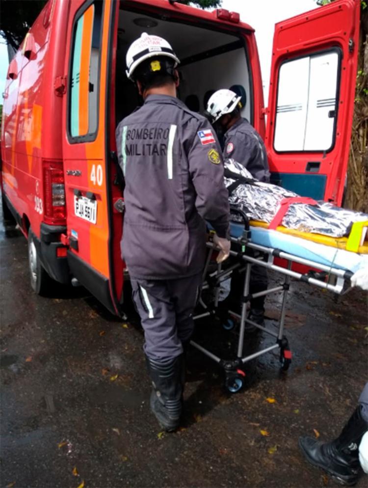 Homem foi imobilizado no local, mas ficou inconsciente