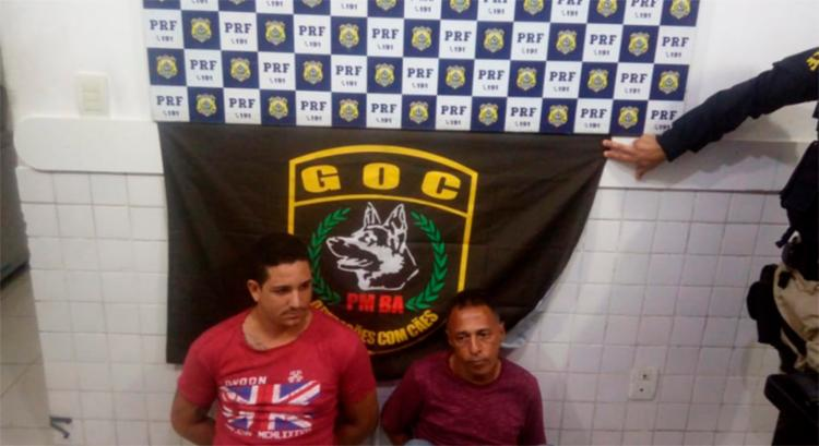 Suspeitos foram presos após abordagem da PRF