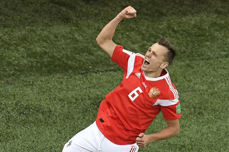 Cheryshev marcou um dos gols da anfitriã e assume artilharia ao lado de CR7 - Foto: Christophe Simon l AFP