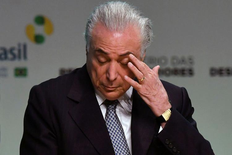 Temer segue como o mais mal avaliado entre os presidentes desde José Sarney - Foto: AFP | Nelson Almeida
