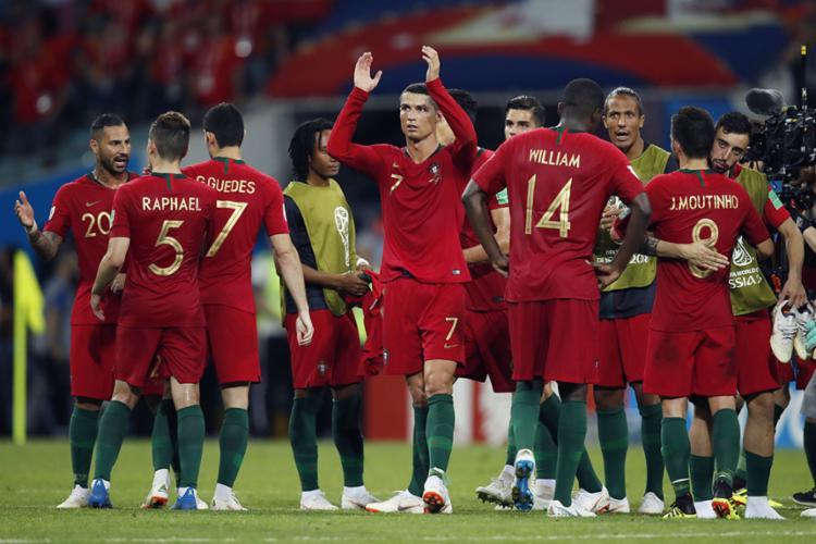 CR7 marcou três gols na partida - Foto: Odd Andersen | AFP