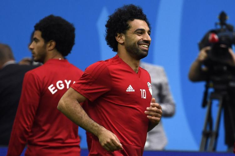 Salah será titular para o duelo desta terça-feira, 19, contra a anfitriã da Copa - Foto: Christophe Simon  AFP