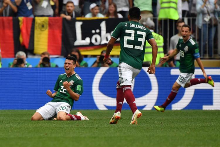 Aos35 minutos do primeiro tempo, Lozano fez o gol da vitória - Foto: AFP
