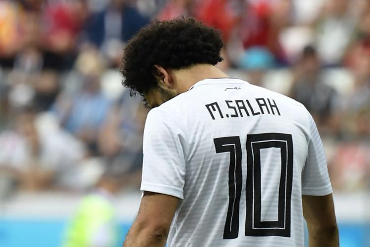 Egito foi melhor no primeiro tempo e deu indícios de que conquistaria sua primeira vitória na história das Copas - Foto: AFP