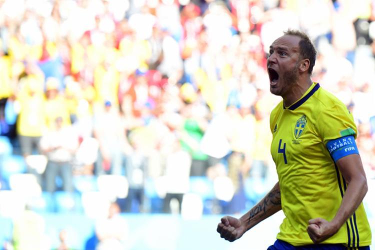 Capitão sueco Granqvist foi responsável pelo gol - Foto: AFP