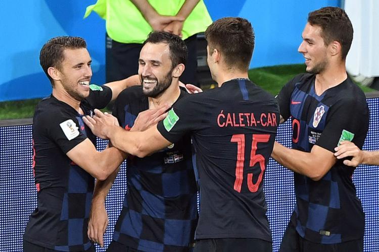 A seleção croata confirmou favoritismo e bateu a Islândia - Foto: Khaled Desouki l AFP