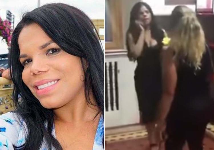 Socialite foi agredida pela brasileira Grasiela Vincent - Foto: Reprodução