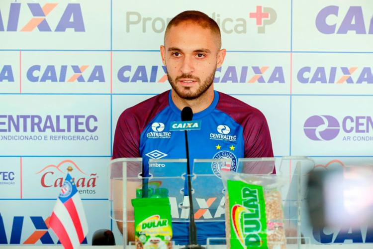 Meia ressaltou a conquista da classificação - Foto: Felipe Oliveira   EC Bahia