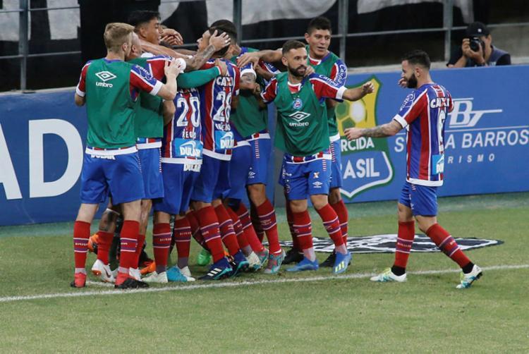 Gol foi marcado por Élber, aos 17 minutos do segundo tempo - Foto: LC Moreira | Estadão Conteúdo