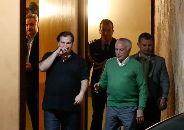 Reunião não constava da agenda oficial nem de Temer nem de Maia. - Foto: Igo Estrela | Metrópoles