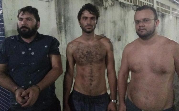 Trio é suspeito de estelionato e foi encontrado em Stella Maris - Foto: Divulgação | SSP