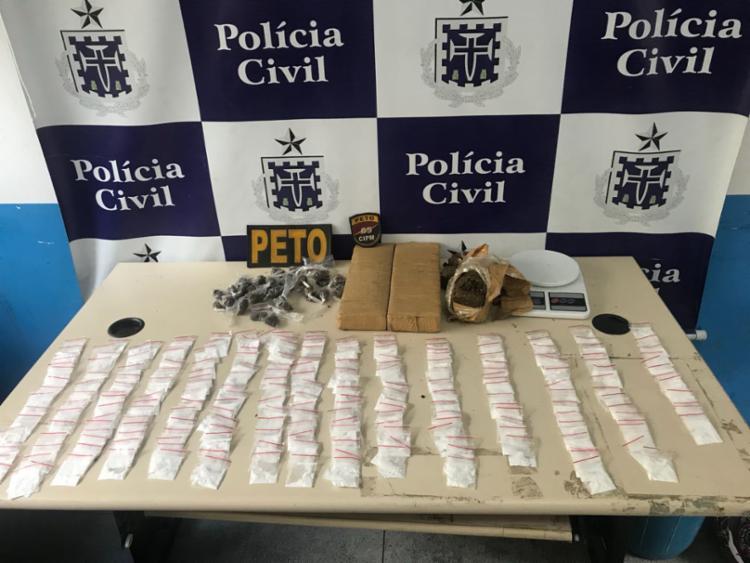 Drogas foram encontradas em um dos cômodos da casa - Foto: Divulgação | SSP