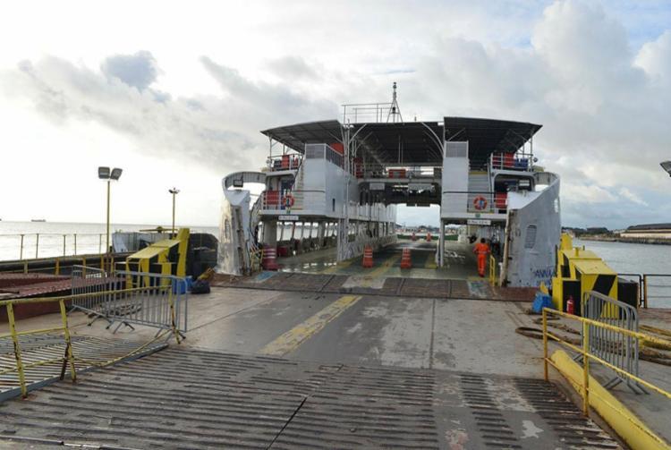 Sistema de ferry registrou baixo movimento neste feriado - Foto: Shirley Stolze | Ag. A TARDE
