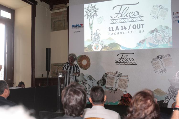 Conceição Evaristo em lançamento do evento - Foto: Alessandra Lori   Ag. A TARDE