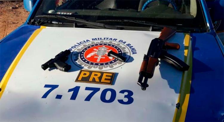Material foi encontrado no interior de um veículo após perseguição - Foto: Divulgação | SSP