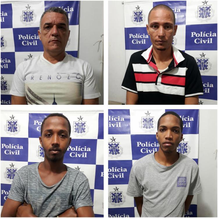 Suspeitos se apresentaram na 16ª DP na noite da segunda-feira - Foto: Ascom | Polícia Civil