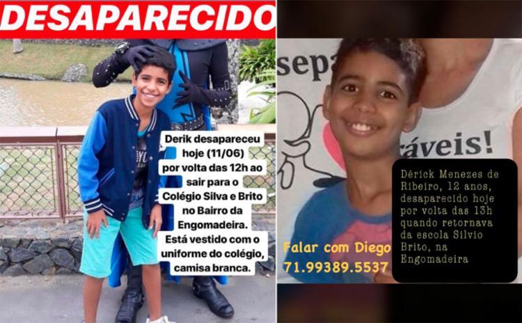 Família chegou a fazer campanha nas redes sociais para encontrar o garoto - Foto: Reprodução