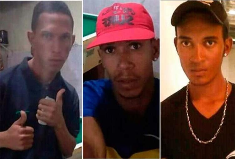 Assassinos chegaram quando Jonas, João Pedro e Leonardo (na ordem das imagens) faziam um churrasco - Foto: Facebook   Reprodução