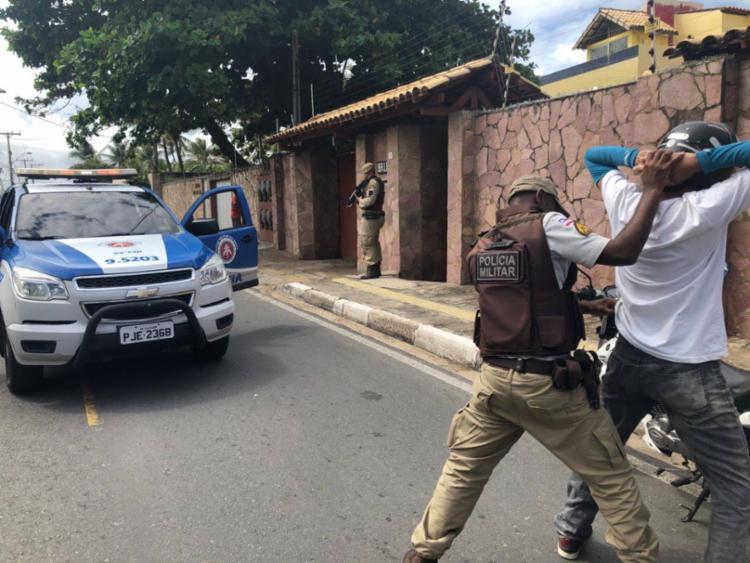 Patrulhamento foi reforçado em Lauro de Freitas após o crime - Foto: Divulgação | SSP-BA
