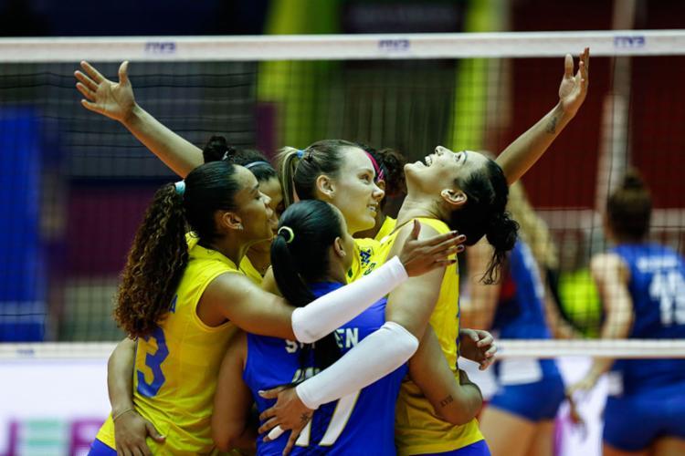 O resultado levou o Brasil aos 31 pontos, na segunda colocação da classificação geral - Foto: William Lucas | Inovafoto | CBV
