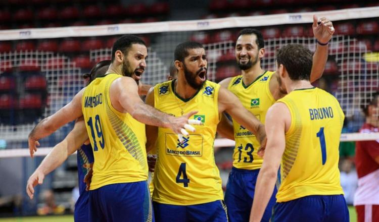 Reencontro com a vitória levou o Brasil de volta ao quarto lugar, com 27 pontos - Foto: FIVB   Divulgação