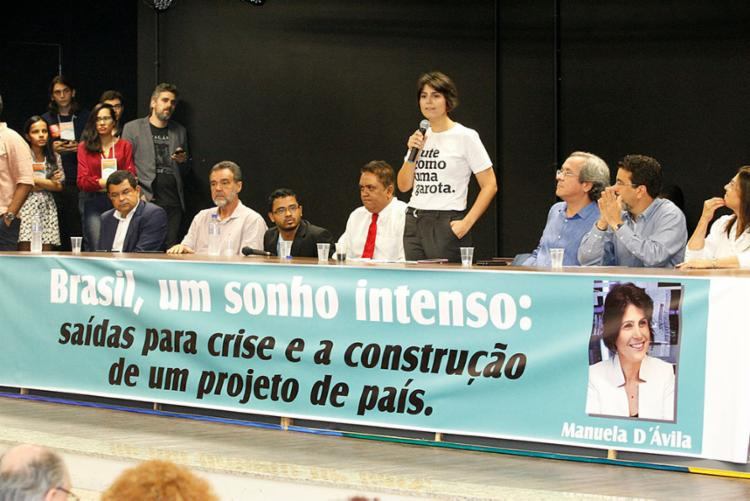 A pré-candidata à presidência da República esteve na Faculdade de Direito da UFBA - Foto: Luciano da Matta | Ag. A TARDE