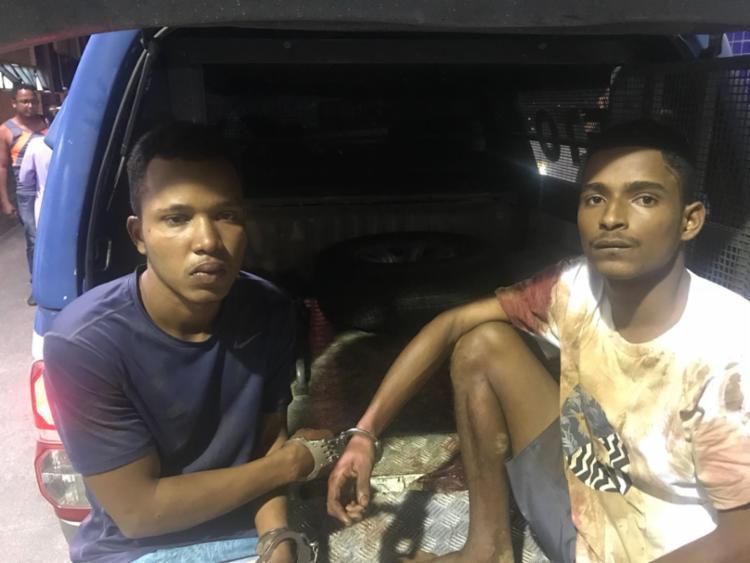 Valdinei (esquerda) e Filipe (direita) foram presos em flagrante