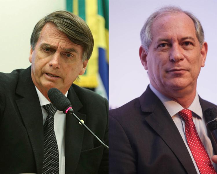 Segundo análises, Bolsonaro e Ciro ganharam força após a greve dos caminhoreiros - Foto: Fabio Rodrigues Pozzebom | Agência Brasil e Mário Miranda | Divulgação
