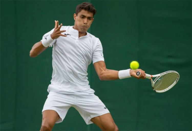 Monteiro até venceu um set, mas foi eliminado - Foto: Reprodução l TenisBrasi l Arquivo