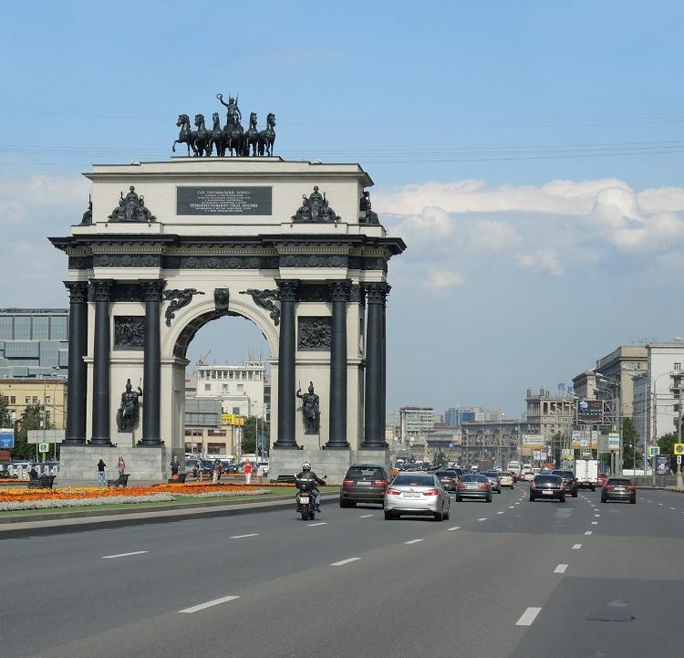 Arco do Triunfo de Moscou, na Rússia. Foto: Xando Pereira / Ag. A TARDE