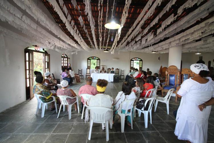 O encontro aconteceu no Terreiro Ilê Axé Omin J'obá, no bairro de São Cristóvão