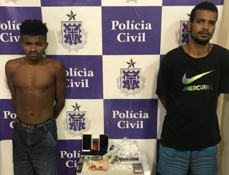 Filipe Santos e Israel da Silva utilizavam imóvel para esconder drogas e produtos de roubos - Foto: Divulgação | SSP-BA