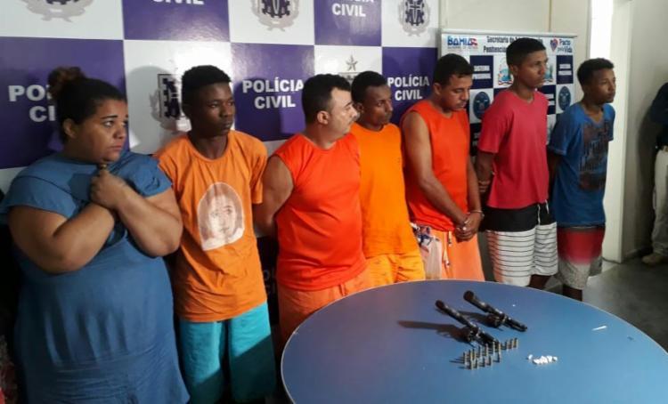 Integrantes da quadrilha tinham envolvimento com tráfico de drogas, homicídios e roubos - Foto: Divulgação | SSP-BA
