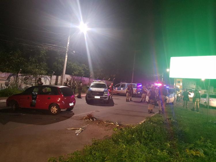 Confronto entre suspeitos e policiais ocorreu na Estrada do Curralinho - Foto: Divulgação | SSP
