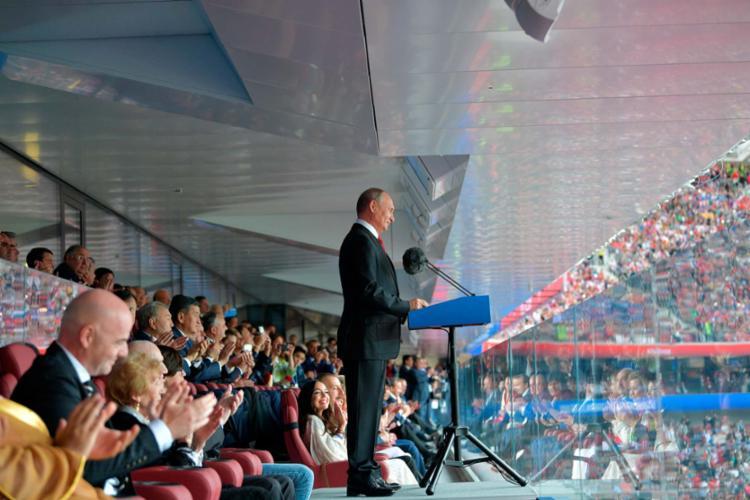 A festa com Putin ainda contou com Ruanda e Líbano - Foto: AFP