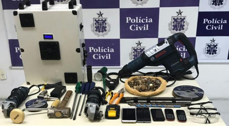 Materiais foram apreendidos em ações realizadas pela polícia - Foto: Divulgação   SSP