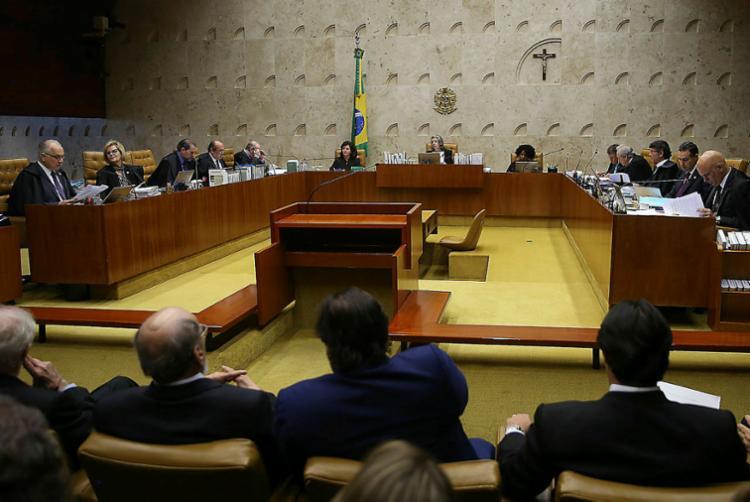 A sessão no Supremo Tribunal Federal deve começar às 9h - Foto: José Cruz | Agência Brasil | 04.04.2018