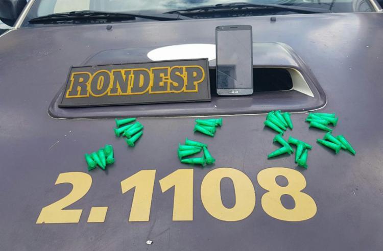 Reinaldo foi apreendido com pinos de cocaína - Foto: Divulgação | SSP