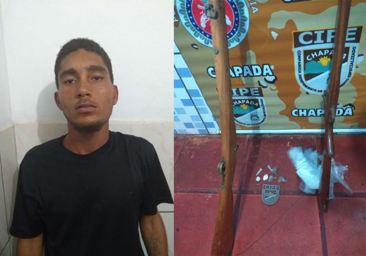Espingardas foram encontradas na residência do suspeito - Foto: Divulgação | SSP