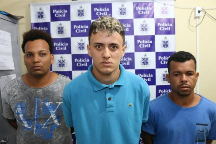 Demi, Guelo e Guiguito (da direita para a esquerda) são suspeitos de ao menos 20 homicídios - Foto: Divulgação | SSP