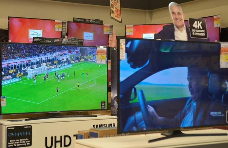 O varejo deixou de vender cerca R$ 245 milhões em TVs - Foto: Shirley Stolze | Ag. A TARDE